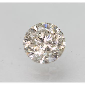معتمد 0.71 قيراط J SI2 جولة رائعة تعزيز الماس فضفاضة الطبيعية 5.45mm
