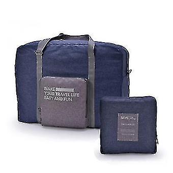 A mala de viagem dobrável pode ser colocada no carrinho de bagagem com grande capacidade saco de armazenamento impermeável (Marinha)