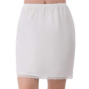 Petticoats pettipants foret skjørt kort sommer elastisk midje petticoat anti gjennomsiktig silke blonder