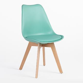 SKLUM Nordic stoel Polypropyleen hout Groen – Jade