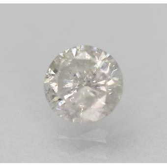 Certificado 0.55 Quilates F SI3 Redondo Brilhante Brilhante Diamante Solto Natural Solto 5.19mm