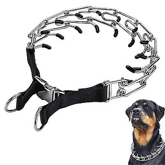 Dog Prong Training Collar, Adjustable Stainless Steel Links With Comfo