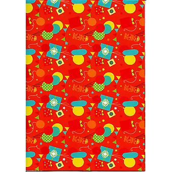 Children's Assorted Gift Wrap Sheets 50-70cm - Balloons & Presents