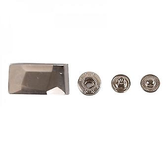 Rectangle Press Studs Metal Snap Fastener Repair Tools Snap Button For Bags