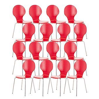 Esszimmerstuhl - Esszimmerstühle - Küchenstuhl - Esszimmerstuhl - Modern - Rot - Metall - 43 cm x 45 cm x 86 cm