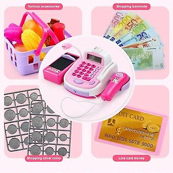 Pretend shopping grocery cash register electronic supermarket till kids cash register toy