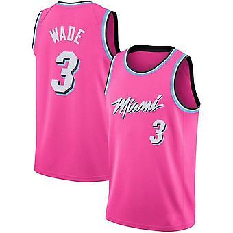 Miami Heat Dwyane Tyrone Wade #3 Men's Basketball Jersey No.3 Sport Shirts Sleeveless T-shirt