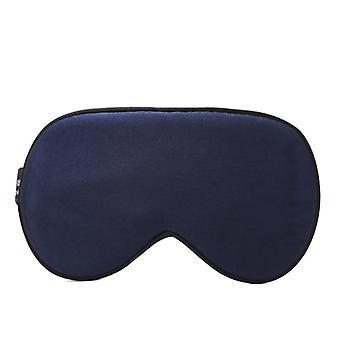 El sombreado de la máscara de seda para dormir es súper suave y ergonómico, adecuado para viajes, dormitorios, dormitorios (azul marino)