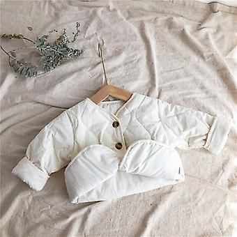 Winter Coat Baby Lovely Wild Long-sleeved Jacket Baby Girl Clothes Winter Jacket Winter Toddler Girl