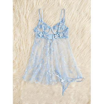 Sexy Damas Vestidos Damas Pijamas Apliques Damas Ropa Interior Encantador Babydoll Encaje Encantador