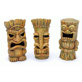 SanDimas Tiki skulpturer (fisk, dekoration, ornamenter)