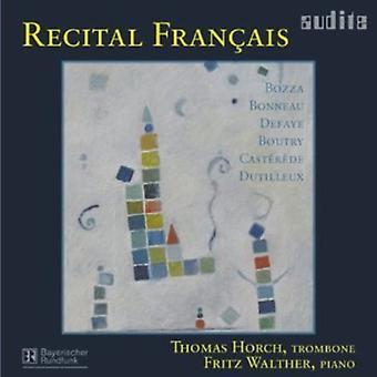 Recital Francais-Music for Trombone & Piano - Recital Fran Ais [CD] USA import