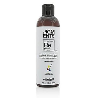 Alfaparf Pigments Reparative Shampoo (for Damaged Hair) - 200ml/6.76oz