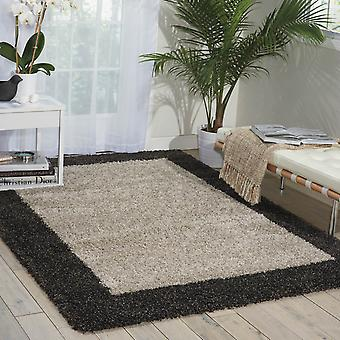 Nourison Amore alfombras Amor5 en plata y carbón de leña