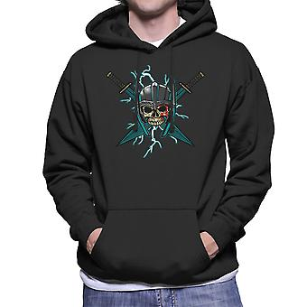 Ragnarok Thor Skull Cross zwaarden mannen Hooded Sweatshirt