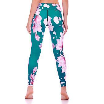 Mio Active Oriental Blossom Yoga Pants MS16S11L