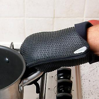 Caraselle Fitted Black Silicone Chefs Mitt