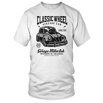 Classic Wheel Vintage Car Garage Ladies T Shirt