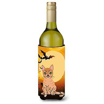 Halloween Australian Mist Cat Wine Bottle Beverge Insulator Hugger