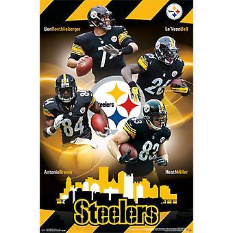 Pittsburgh Steelers - Team 15 Poster Print