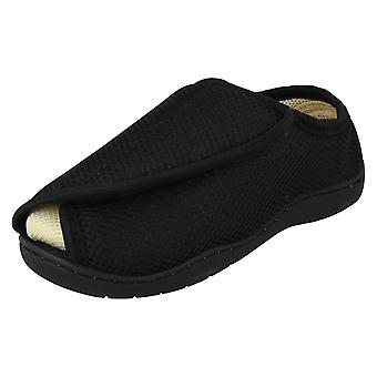 Unisex Spot On Perforated Open Toe Wide Fitting Slippers CT-16001