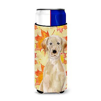 Yellow Labrador Fall Michelob Ultra Hugger for slim cans