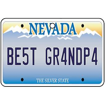 Nevada - Best Grandpa License Plate Car Air Freshener