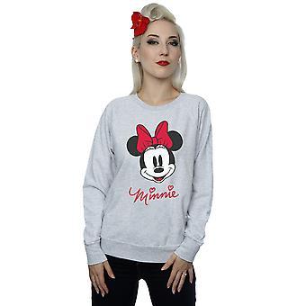 Disney Damen Minnie Mouse Gesicht-Sweatshirt