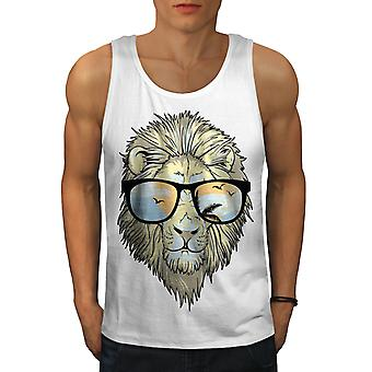 Tiger Swag Chill Animal Men WhiteTank Top | Wellcoda