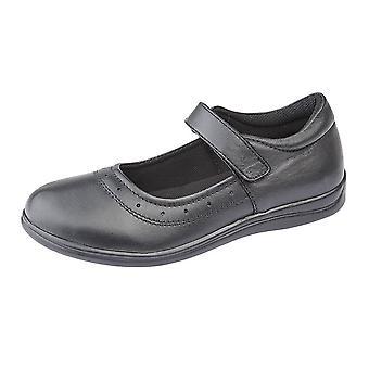 Roamers lasten tytöt Touch kiinnitys nahka koulu kengät