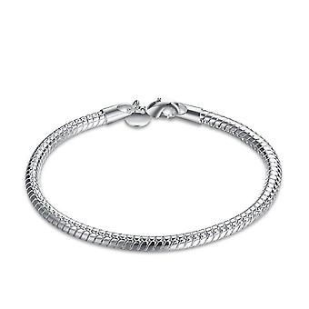 Womens Snake Skin Design argent Bracelet moderne en