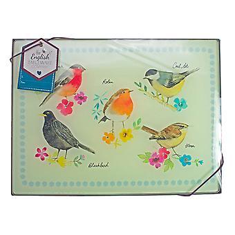 Engleză Tableware co. set de 4 păsări grădină placemats