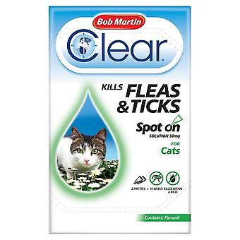 Bob Martin Clear Cat Kitten Spot On Fleas & Ticks Treatment, 2 Tubes
