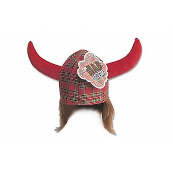 Scottish Tartan Hagar Red Hat Viking Neuheit