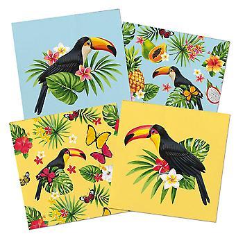Tukan lato party serwetka serwetki 33 x 33 cm 20 szt tropikalny Toucan partii dekoracji