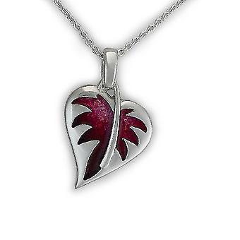 Sterling Silver Traditional Scottish Hearts Ignite Enamel Hand Crafted Necklace Pendant