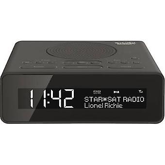 TechniSat DigitRadio 51 DAB + wekkerradio DAB +, FM, AUX-antraciet