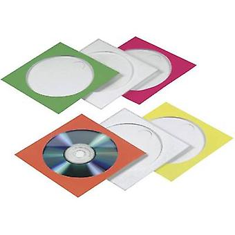 Hama CD box 1 CD/DVD/Blu-Ray Papier rot, grün, blau, Orange, gelb 100 PC (W x H x T) 125 x 125 x 1 mm 78369