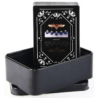 Aerosmith kiviä on asetettu 52 pelikortin pakalla Tin