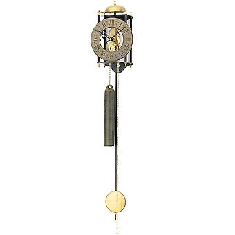 Nostalgic wall clock pendulum wall clock with pendulum housing metal finish