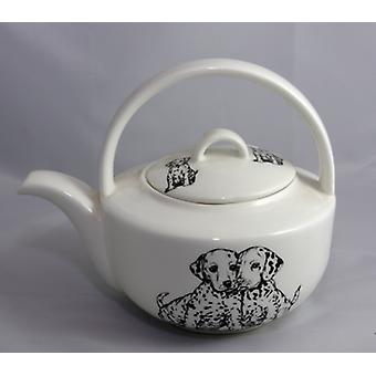 English Bone China Teapot Dalmations