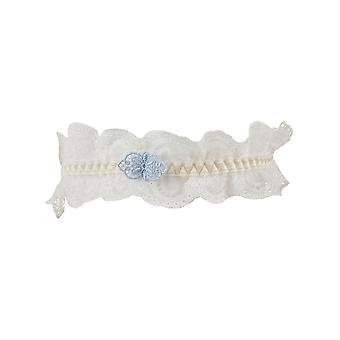 Aubade DA99 Women's A L'Amour Nacre Off White Lace Bridal Garter