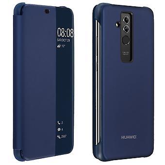 Offisielle Huawei Smart View flip sak for Huawei kompis 20 Lite - mørk blå