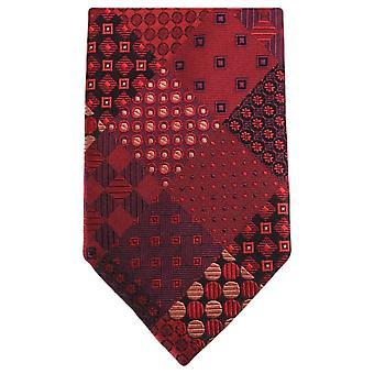 Knightsbridge Neckwear Multi wzór koła krawat - czerwony