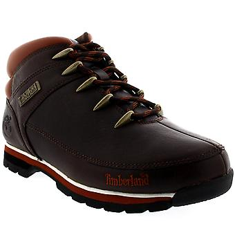 Mens Timberland Euro Sprint Nubuck Black Winter Snow Hiking Ankle Boots