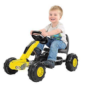 Toyrific Redline Racer Go-Kart Ride på med Peddles - gul