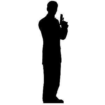 Salainen agentti mies yksi pakkaus (James Bond tyyliin) - Lifesize pahvi automaattikatkaisin / seisoja