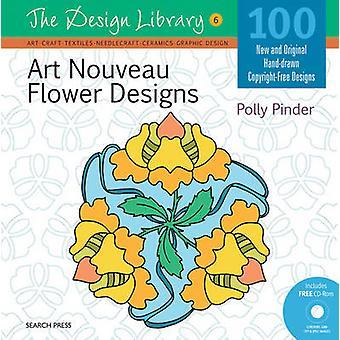Art Nouveau fleur dessins par Polly Pinder - livre 9781844488414