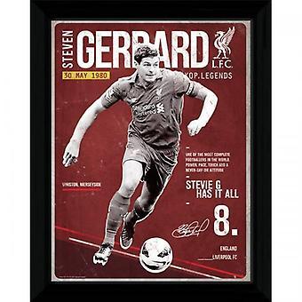 Liverpool foto Gerrard Retro 16 x 12