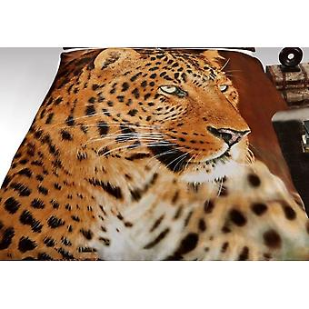 3D djur päls filt soffa kasta bäddsoffa dubbel storlek 150 x 200cm